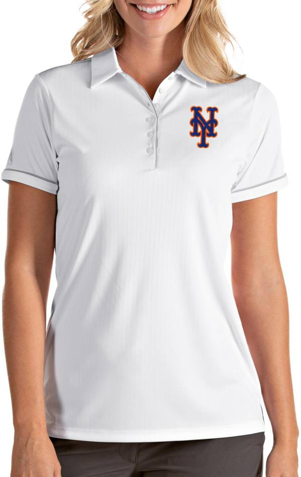 Antigua Women's New York Mets Salute White Performance Polo product image