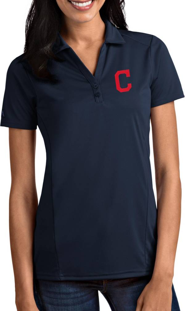 Antigua Women's Cleveland Indians Tribute Navy Performance Polo product image