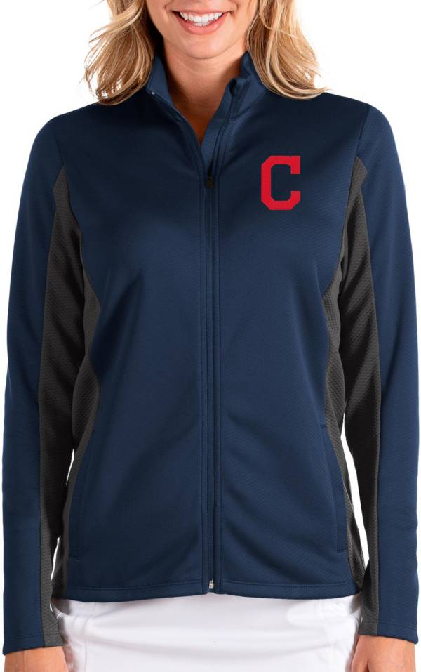 Antigua Women's Cleveland Indians Navy Passage Full-Zip Jacket product image