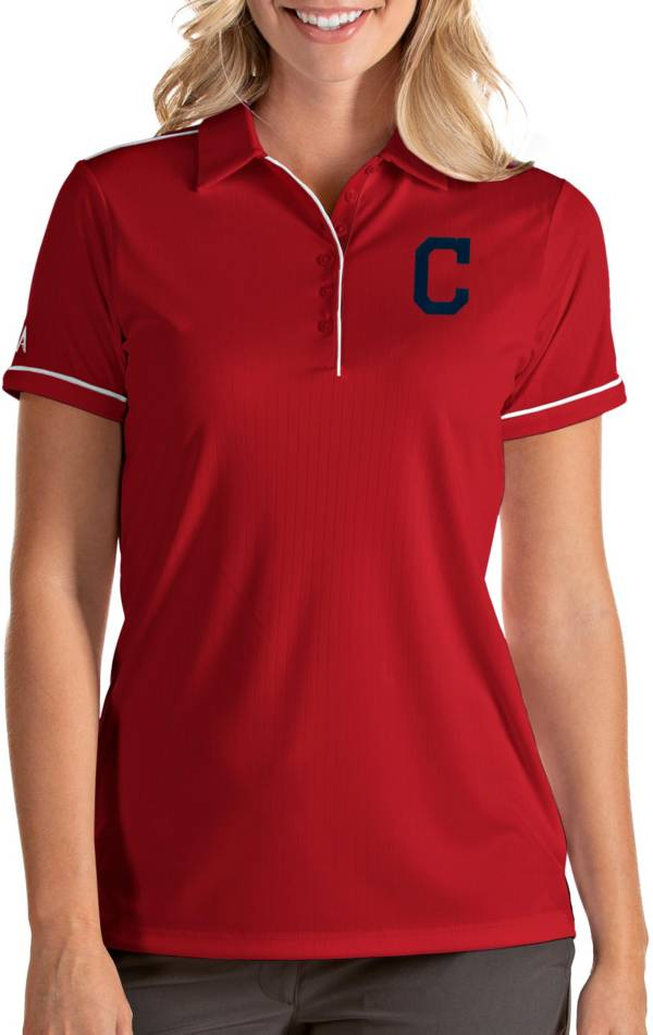 Antigua Women's Cleveland Indians Salute Red Performance Polo product image