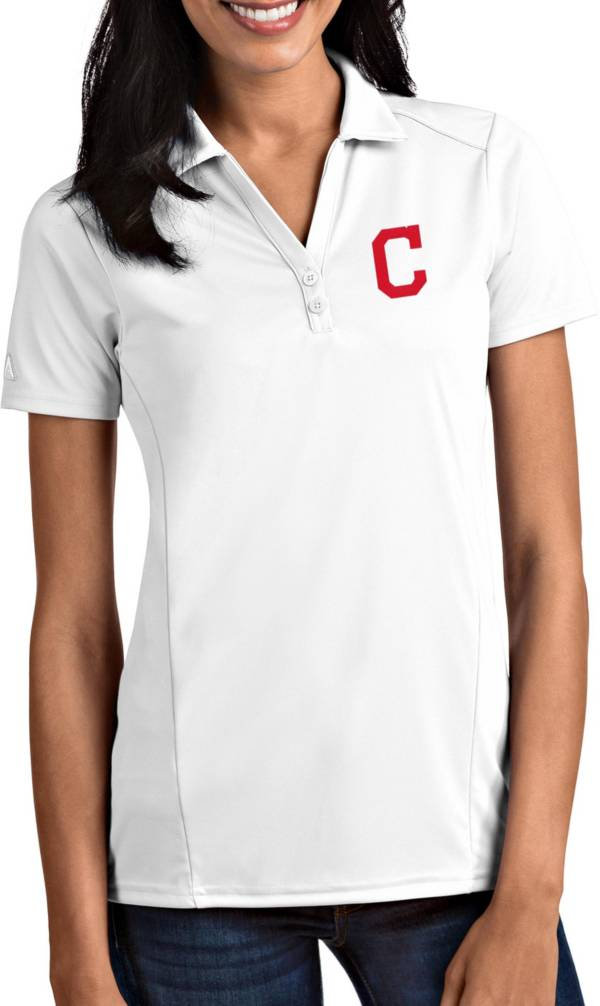 Antigua Women's Cleveland Indians Tribute White Performance Polo product image