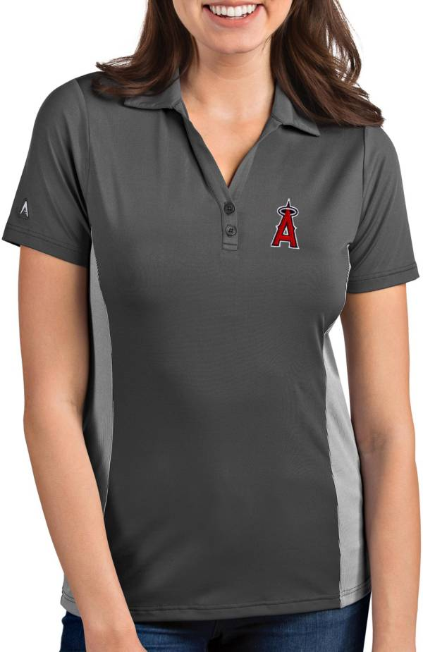 Antigua Women's Los Angeles Angels Venture Grey Performance Polo product image