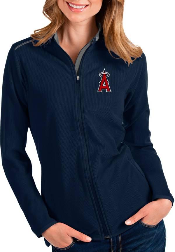 Antigua Women's Los Angeles Angels Navy Glacier Full-Zip Jacket product image