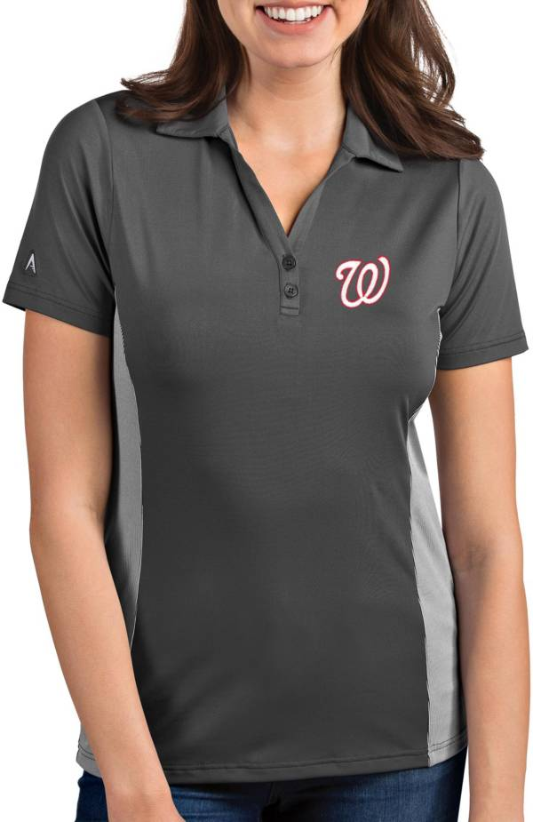 Antigua Women's Washington Nationals Venture Grey Performance Polo product image
