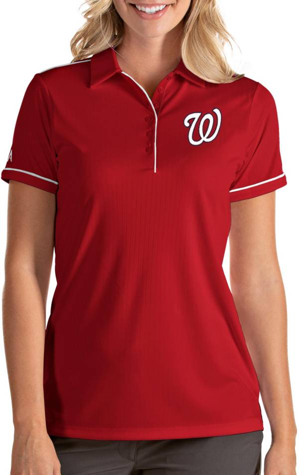 Antigua Women's Washington Nationals Salute Red Performance Polo product image