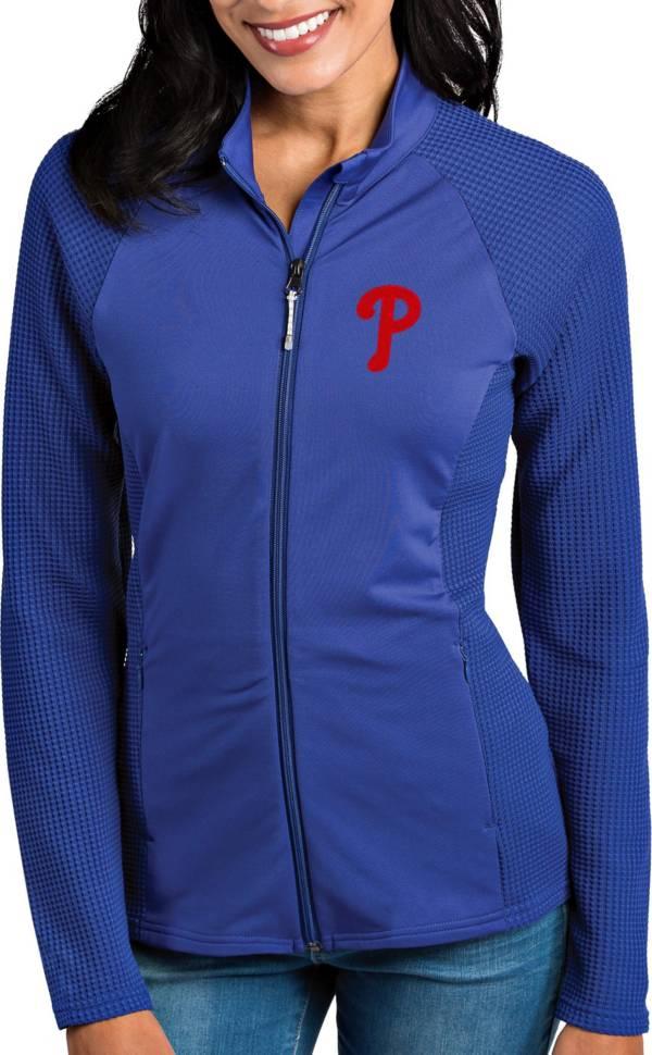Antigua Women's Philadelphia Phillies Royal Sonar Performance Quarter-Zip Pullover product image