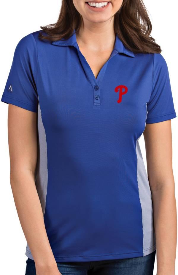 Antigua Women's Philadelphia Phillies Venture Royal Performance Polo product image