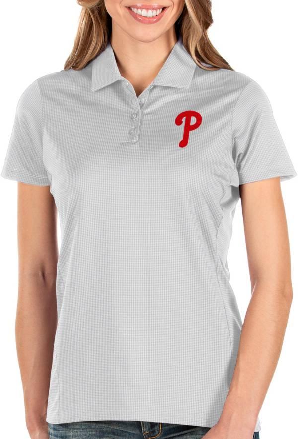 Antigua Women's Philadelphia Phillies White Balance Polo product image