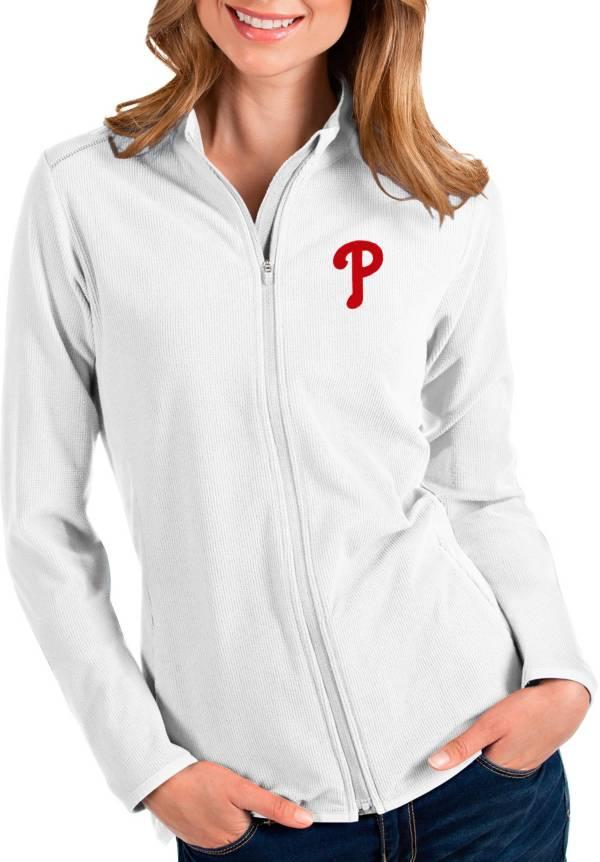 Antigua Women's Philadelphia Phillies White Glacier Full-Zip Jacket product image