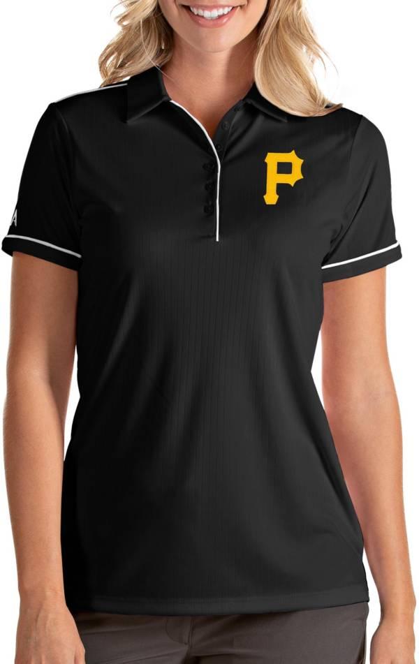 Antigua Women's Pittsburgh Pirates Salute Black Performance Polo product image