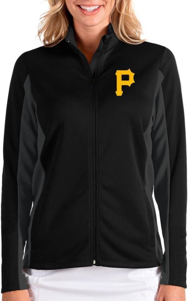 Antigua Women's Pittsburgh Pirates Black Passage Full-Zip Jacket product image