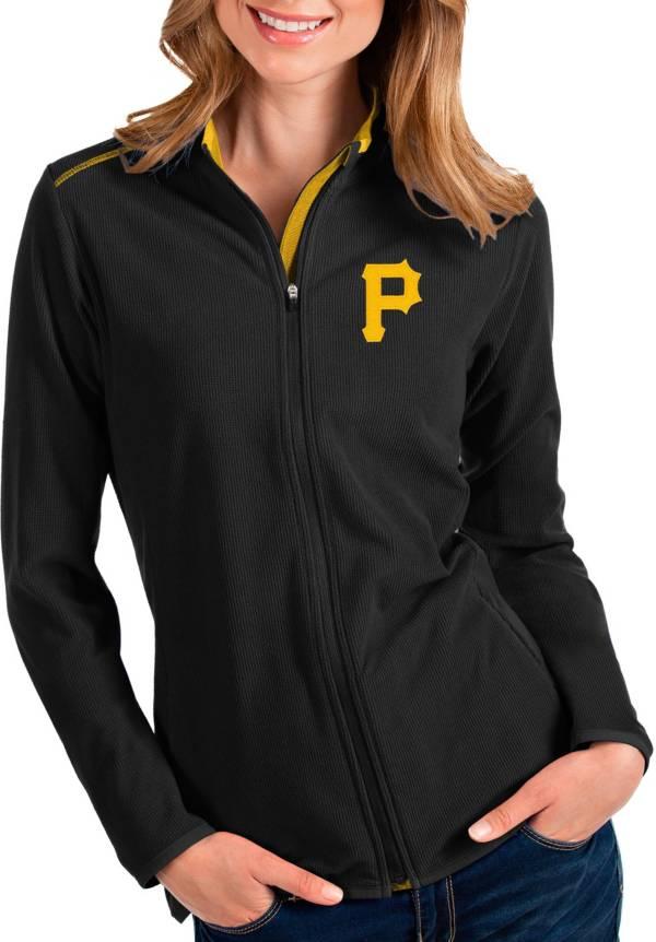 Antigua Women's Pittsburgh Pirates Black Glacier Full-Zip Jacket product image