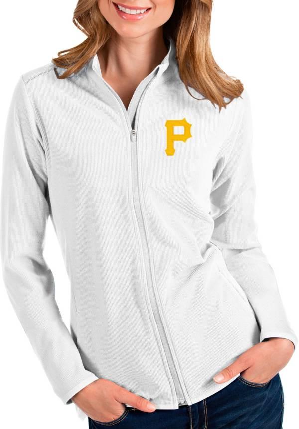 Antigua Women's Pittsburgh Pirates White Glacier Full-Zip Jacket product image