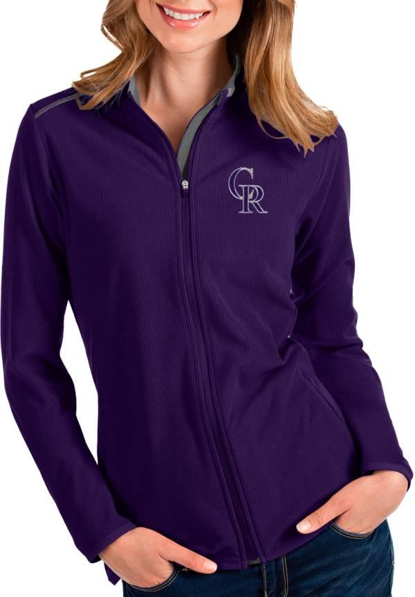 Antigua Women's Colorado Rockies Purple Glacier Full-Zip Jacket product image