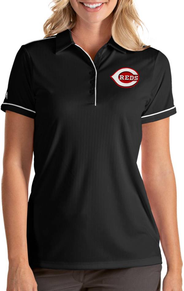 Antigua Women's Cincinnati Reds Salute Black Performance Polo product image
