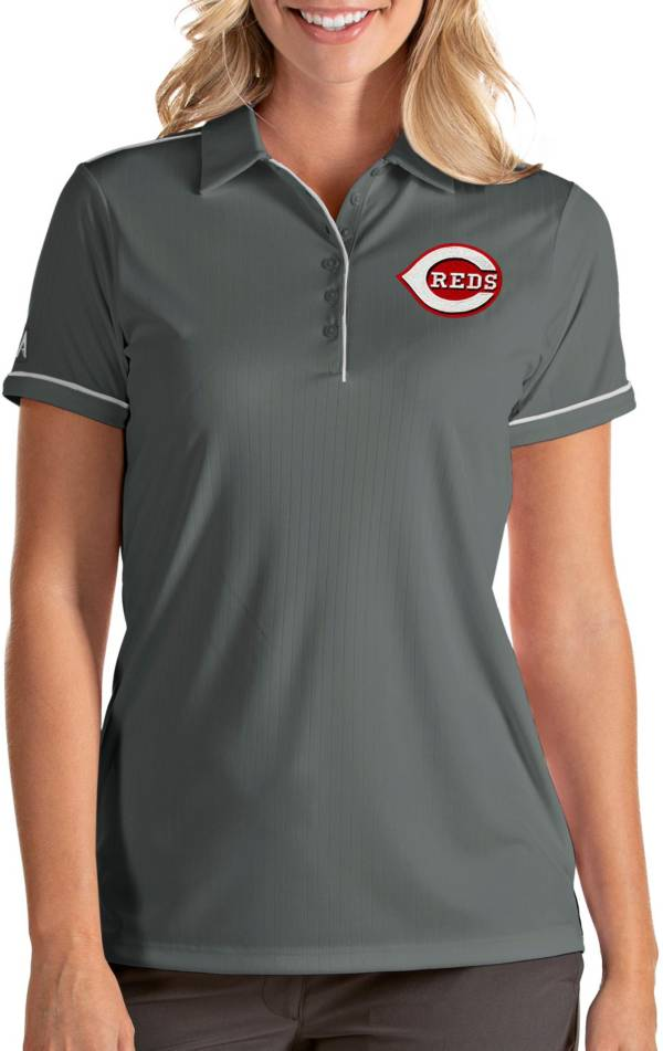 Antigua Women's Cincinnati Reds Salute Grey Performance Polo product image