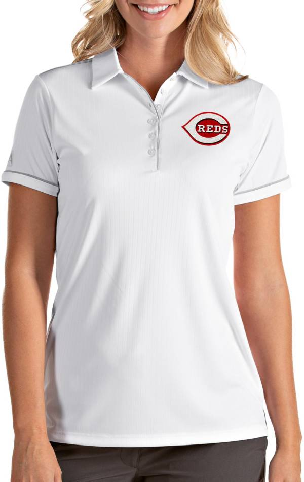 Antigua Women's Cincinnati Reds Salute White Performance Polo product image