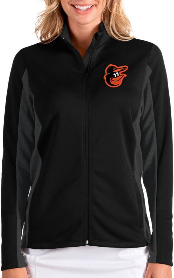 Antigua Women's Baltimore Orioles Black Passage Full-Zip Jacket product image