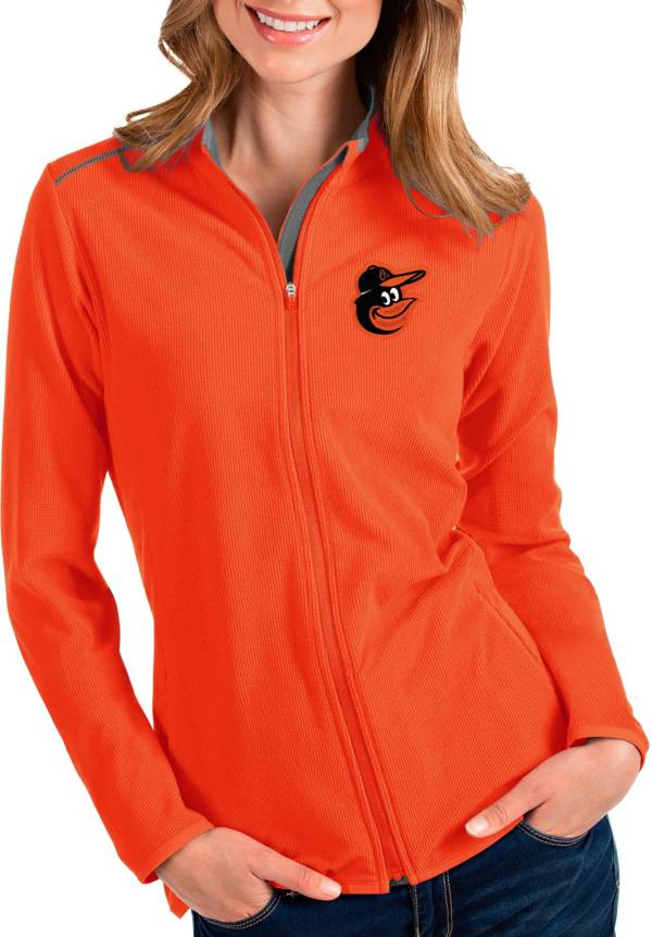 Antigua Women's Baltimore Orioles Orange Glacier Full-Zip Jacket product image