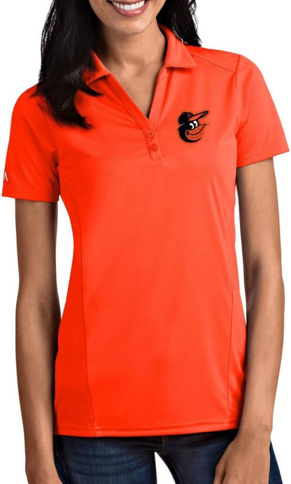 Antigua Women's Baltimore Orioles Tribute Orange Performance Polo product image