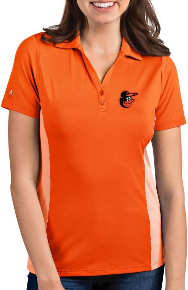 Antigua Women's Baltimore Orioles Venture Orange Performance Polo product image