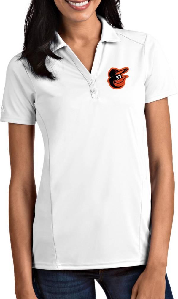 Antigua Women's Baltimore Orioles Tribute White Performance Polo product image