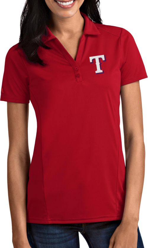 2c7191ca2 Antigua Women s Texas Rangers Tribute Red Performance Polo. noImageFound. 1