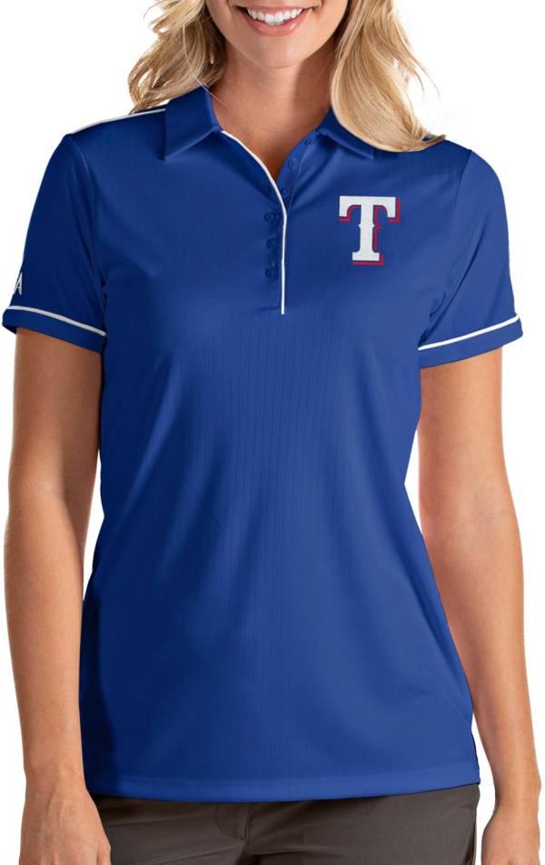 Antigua Women's Texas Rangers Salute Royal Performance Polo product image