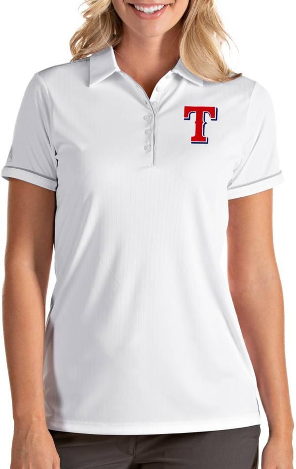 Antigua Women's Texas Rangers Salute White Performance Polo product image