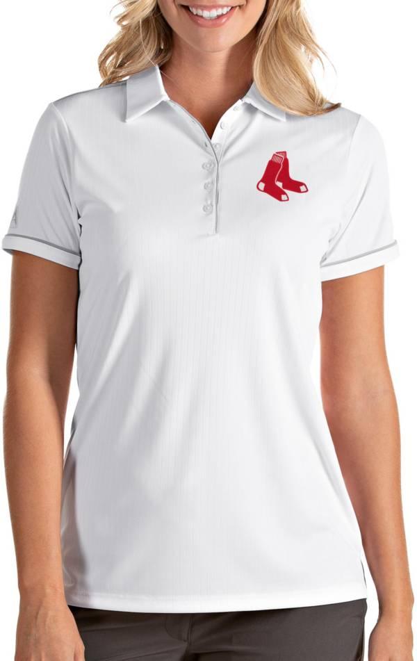 Antigua Women's Boston Red Sox Salute White Performance Polo product image