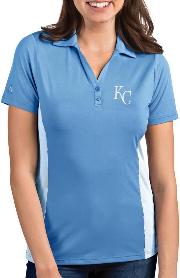 Antigua Women's Kansas City Royals Venture Light Blue Performance Polo product image