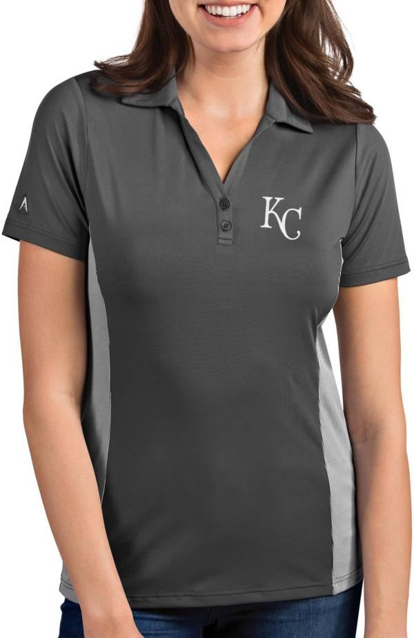 Antigua Women's Kansas City Royals Venture Grey Performance Polo product image