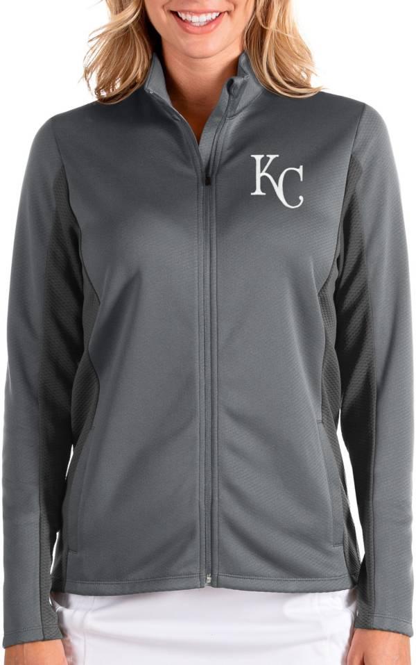 Antigua Women's Kansas City Royals Grey Passage Full-Zip Jacket product image