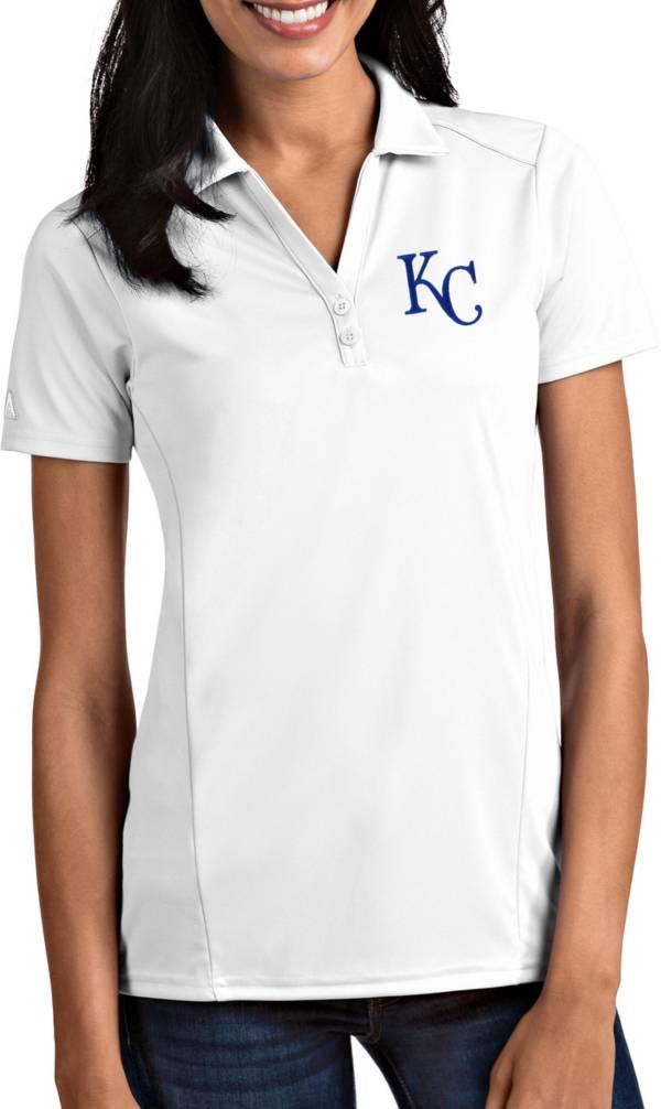 Antigua Women's Kansas City Royals Tribute White Performance Polo product image