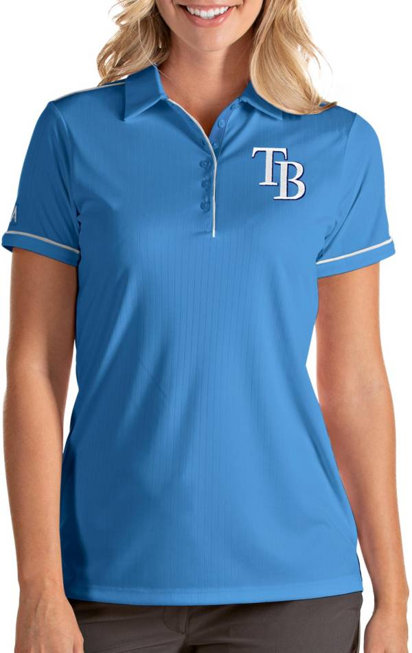 Antigua Women's Tampa Bay Rays Salute Light Blue Performance Polo product image