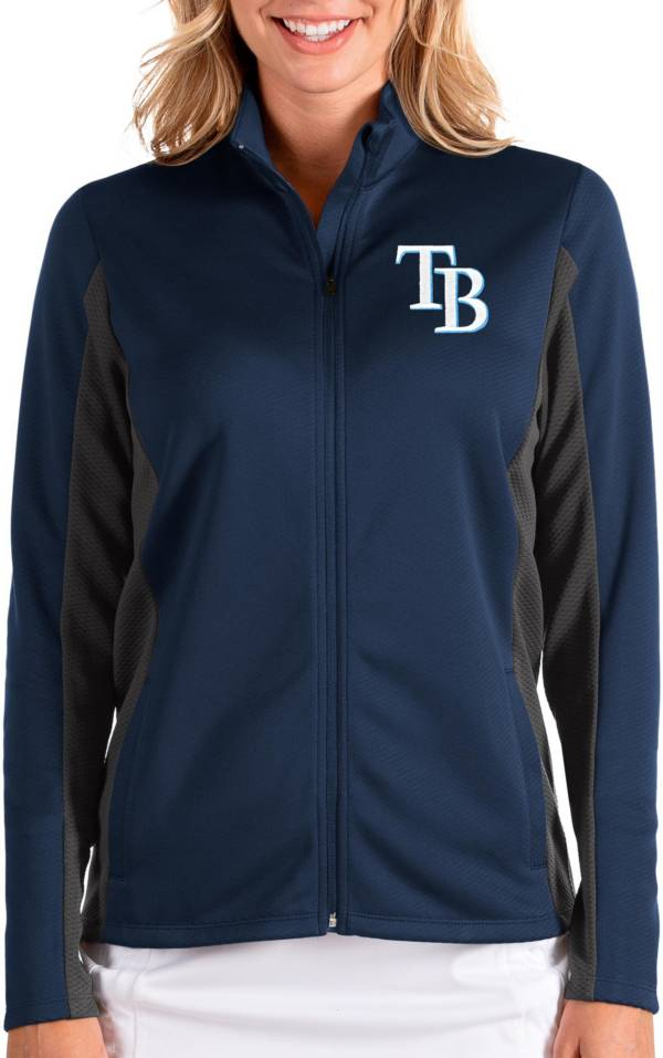 Antigua Women's Tampa Bay Rays Navy Passage Full-Zip Jacket product image