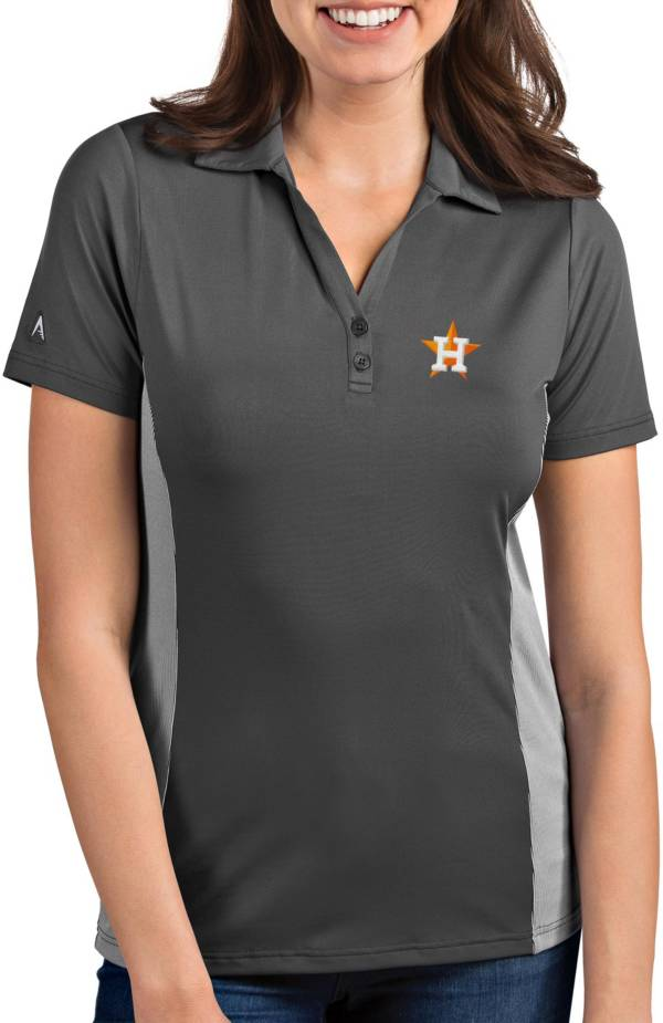 Antigua Women's Houston Astros Venture Grey Performance Polo product image