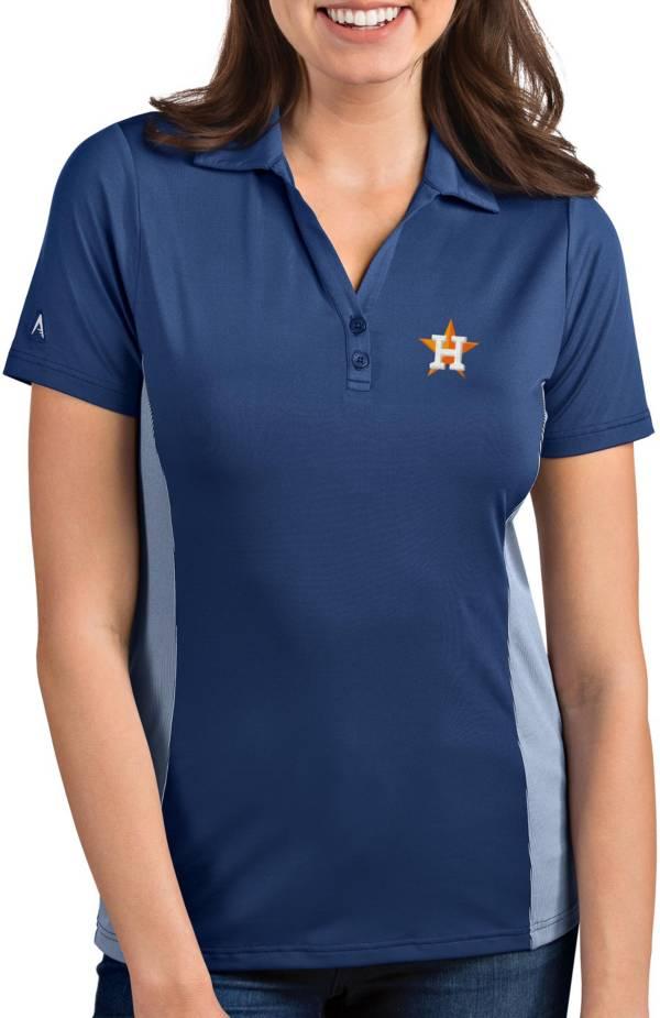 Antigua Women's Houston Astros Venture Navy Performance Polo product image