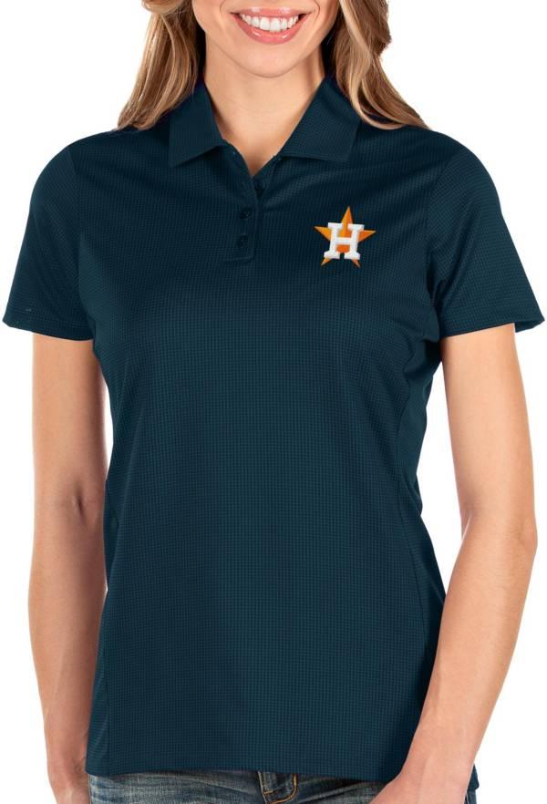 Antigua Women's Houston Astros Navy Balance Polo product image
