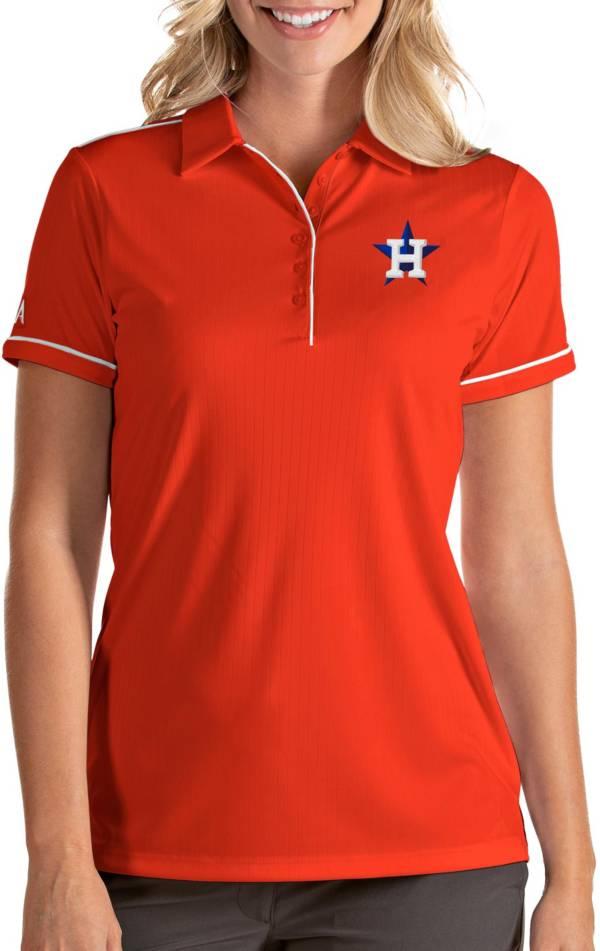 Antigua Women's Houston Astros Salute Orange Performance Polo product image