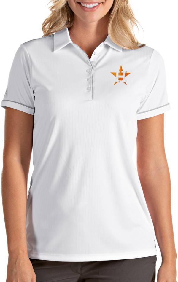 Antigua Women's Houston Astros Salute White Performance Polo product image