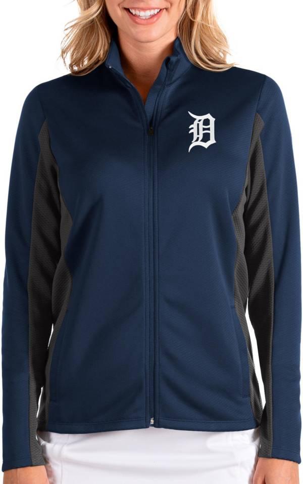 Antigua Women's Detroit Tigers Navy Passage Full-Zip Jacket product image