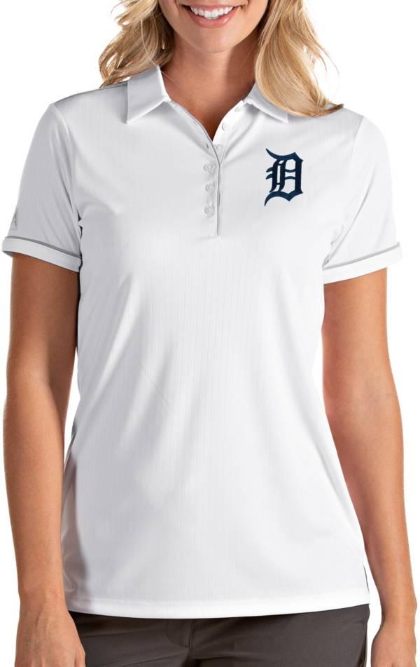 Antigua Women's Detroit Tigers Salute White Performance Polo product image