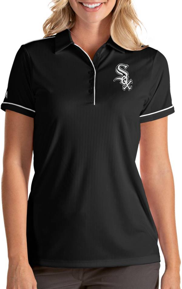 Antigua Women's Chicago White Sox Salute Black Performance Polo product image