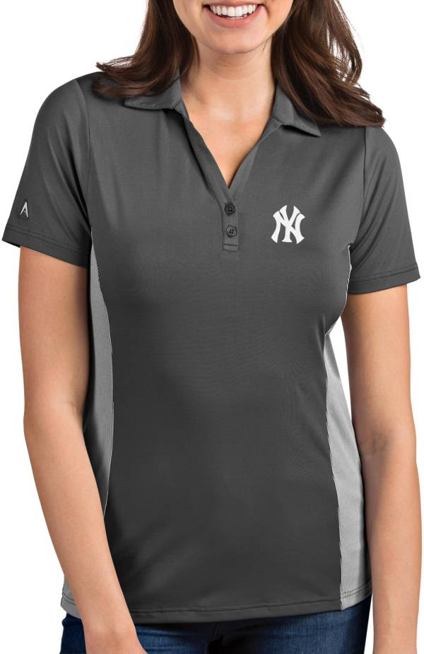 Antigua Women's New York Yankees Venture Grey Performance Polo product image