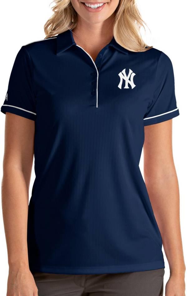Antigua Women's New York Yankees Salute Navy Performance Polo product image
