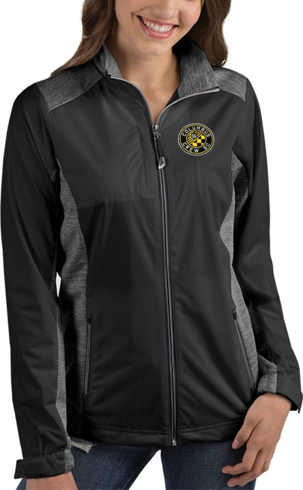 Antigua Women's Columbus Crew Revolve Black Full-Zip Jacket product image