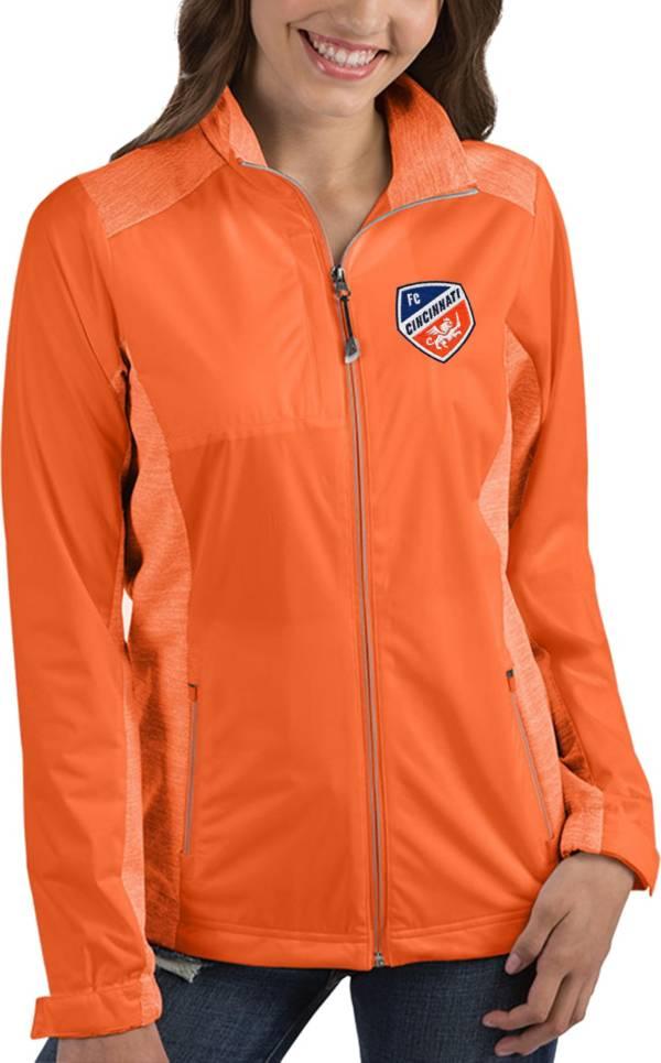 Antigua Women's FC Cincinnati Revolve Orange Full-Zip Jacket product image