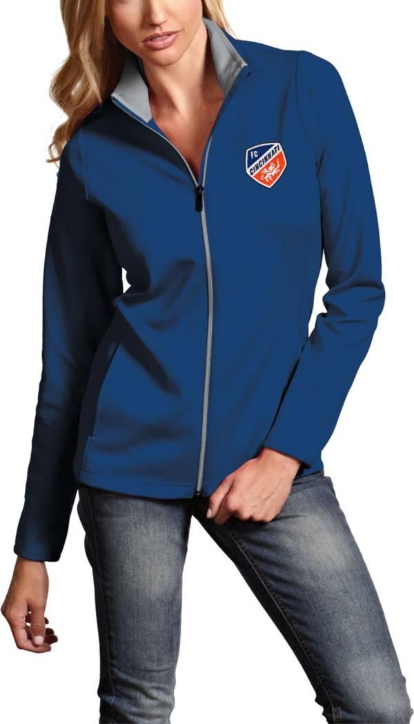 Antigua Women's FC Cincinnati Leader Royal Full-Zip Jacket product image