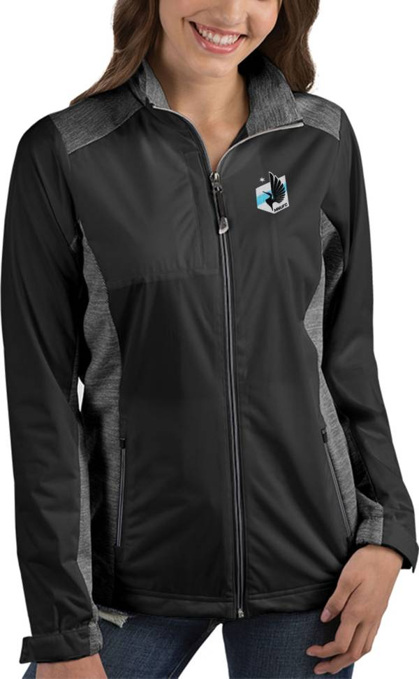Antigua Women's Minnesota United FC Revolve Black Full-Zip Jacket product image